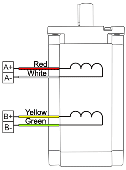 SM86118 - NEMA34 (long) Stepper Motor Wiring