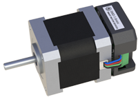 Small stepper motor with integrated driver
